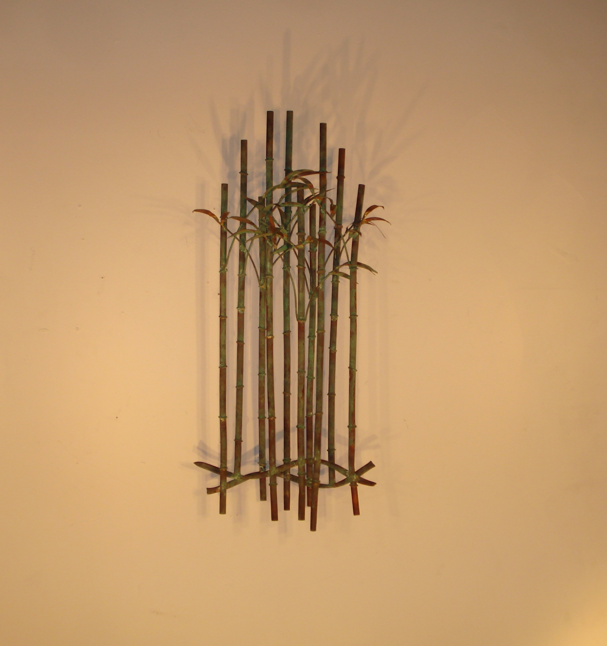 Botanical metal wall decor sculptures and art gurtan designs bamboo wall decor with metal bamboo canes amipublicfo Choice Image