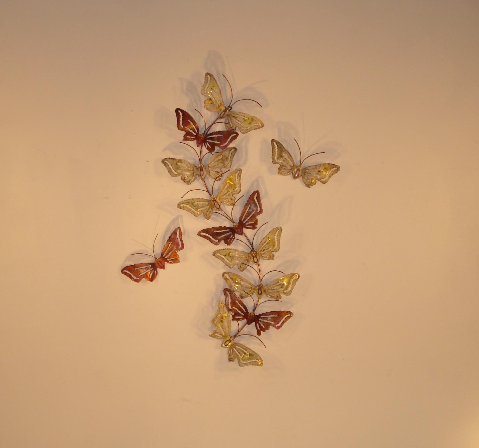 Butterfly Metal Wall Art - Metal Wall Sculpture - Home Decor ...