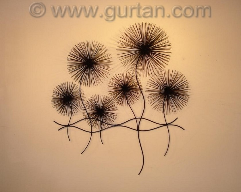 Dandelion Metal Wall Decor : Dandelions metal wall art sculpture home