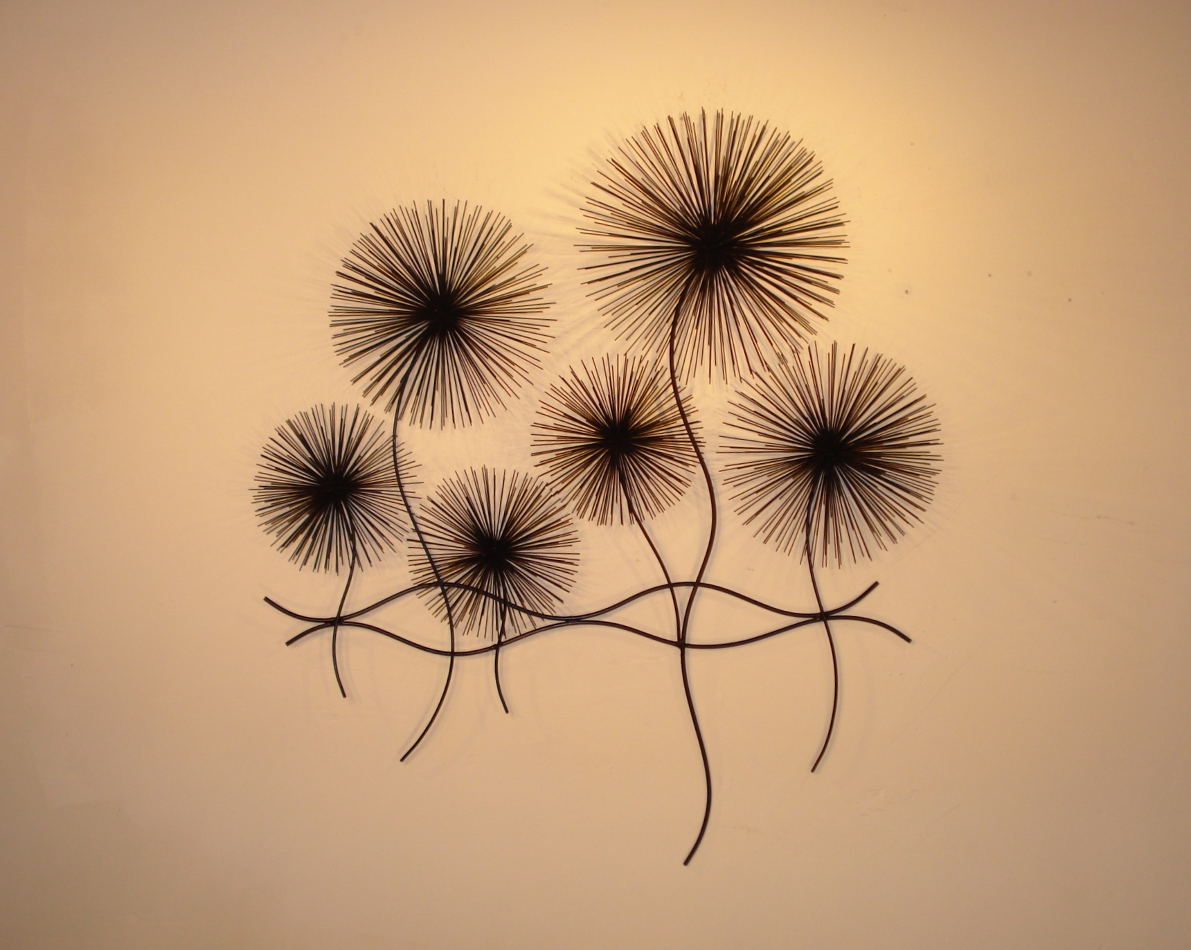 Dandelions Metal Wall Art - Metal Wall Sculpture - Home Decor ...