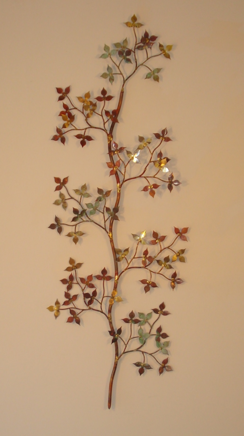 Metal Leaves Wall Decor spring leaves - wall art - metal sculpture - metal decor