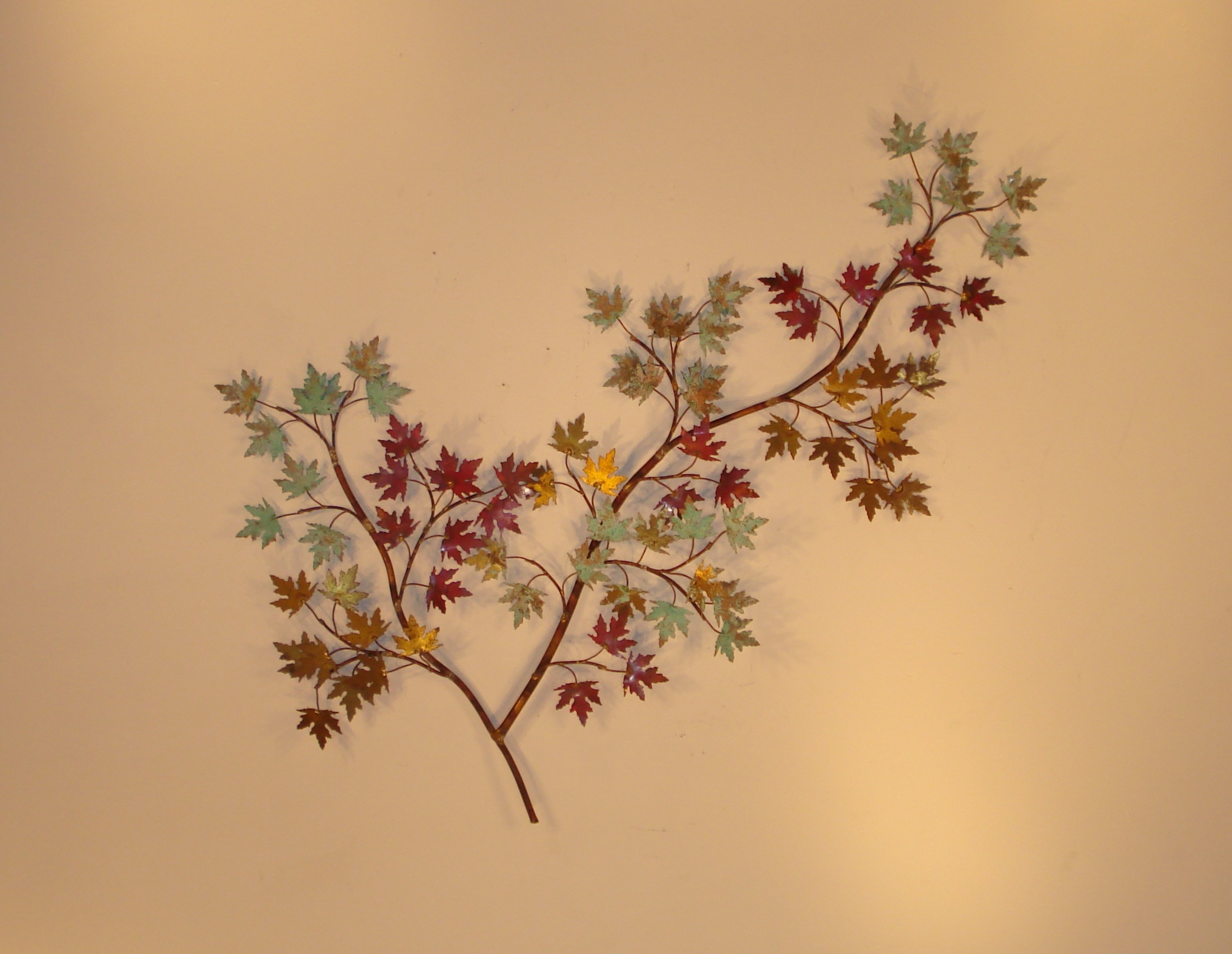 Metal wall art and wall d cor leaves gurtan designs for Metal leaf wall art