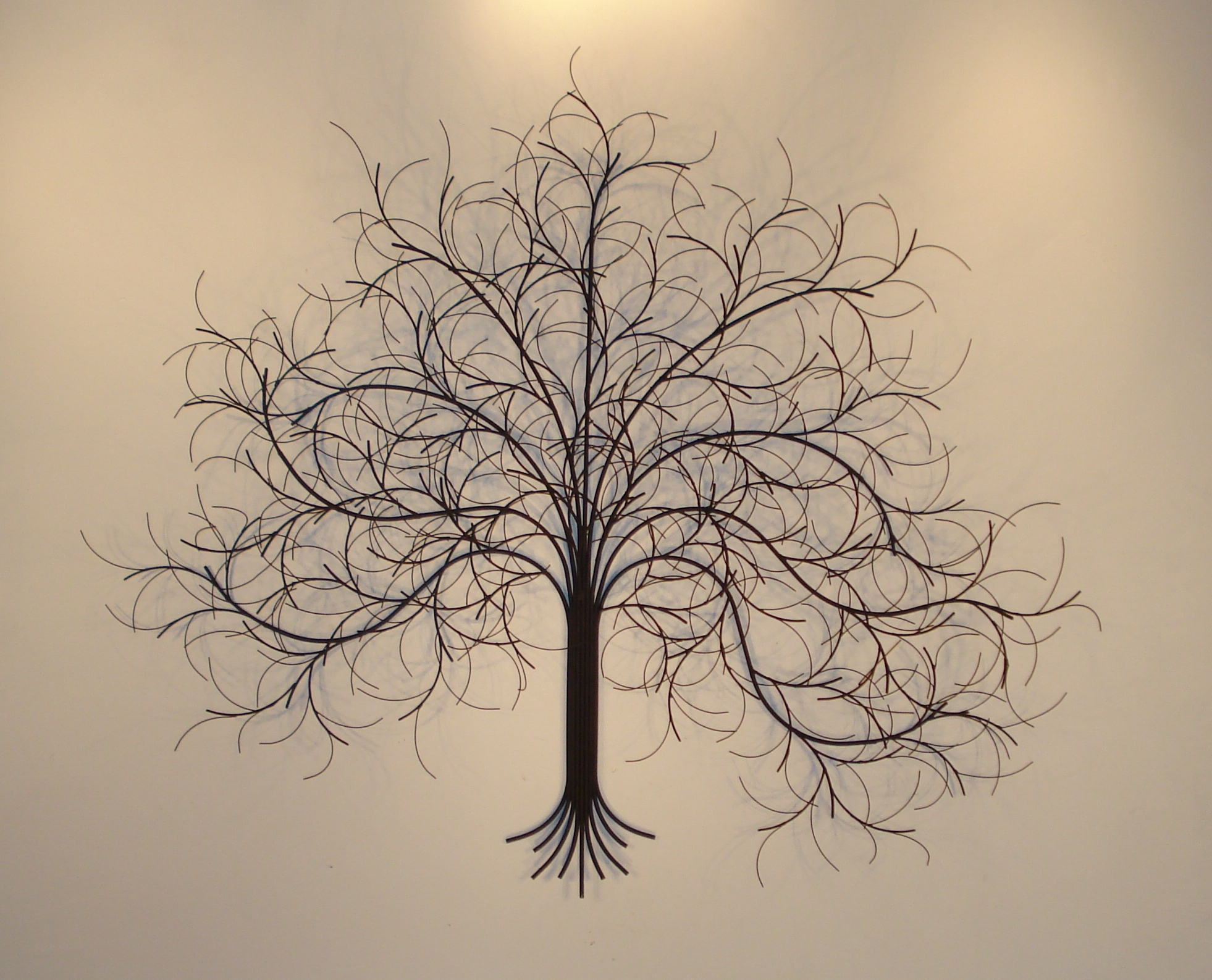 Marvelous March Tree Black Metal Wall Art Decor Indoor Single