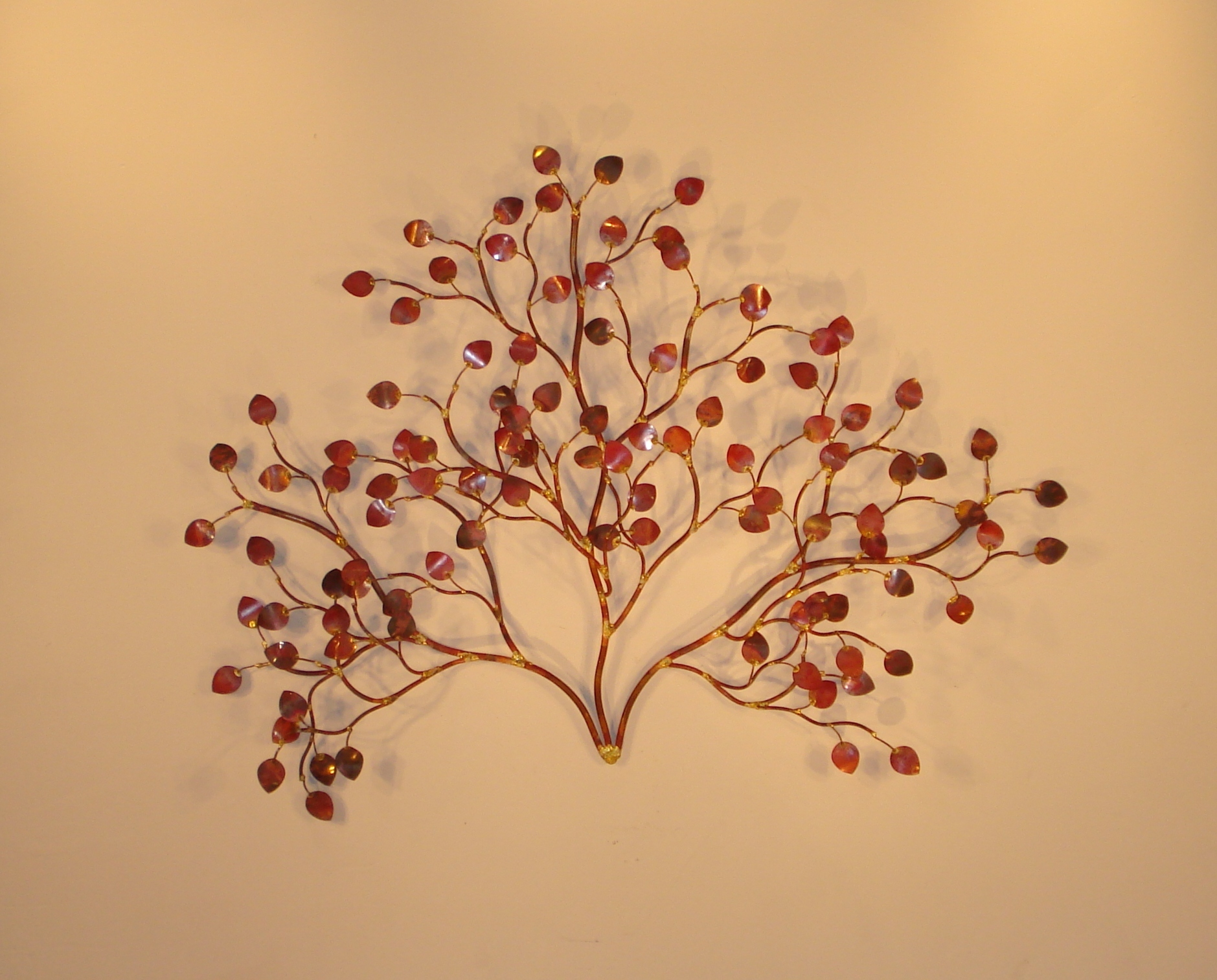 Wall Art Red Leaves : Metal wall art and d?cor leaves gurtan designs