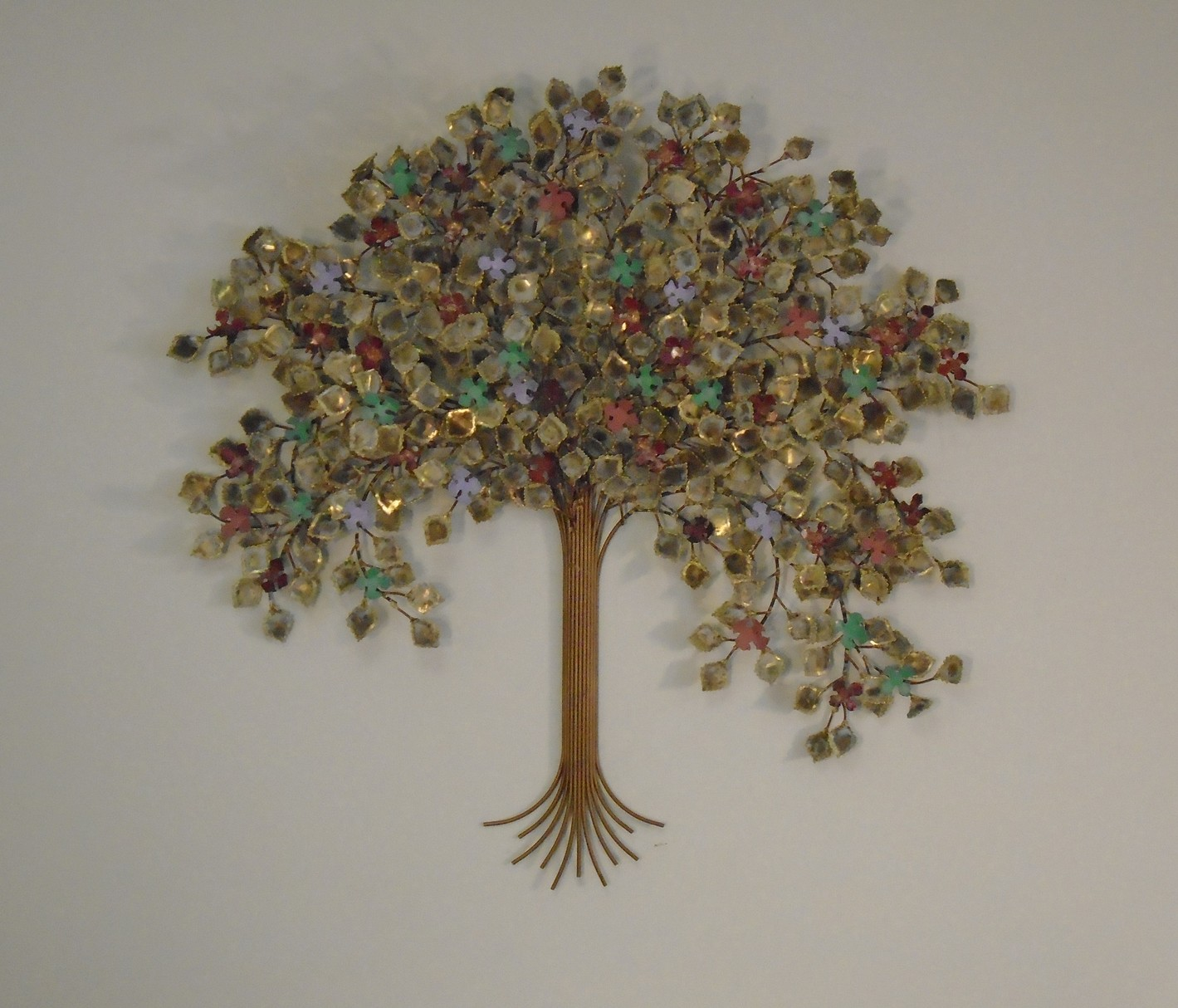 Tree of life metal wall art metal wall sculpture for Tree wall art