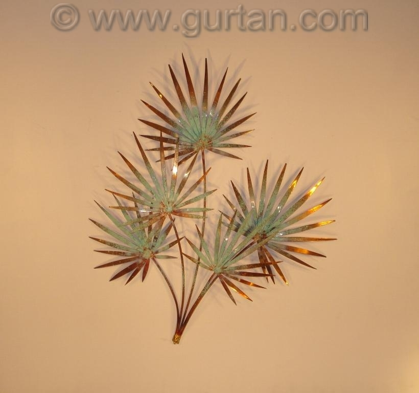 Tropical metal wall art metal wall sculpture home decor for Tropical metal wall art