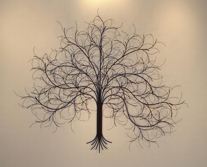 Metal wall art wall sculpture metal decor gurtan for Tree wall art