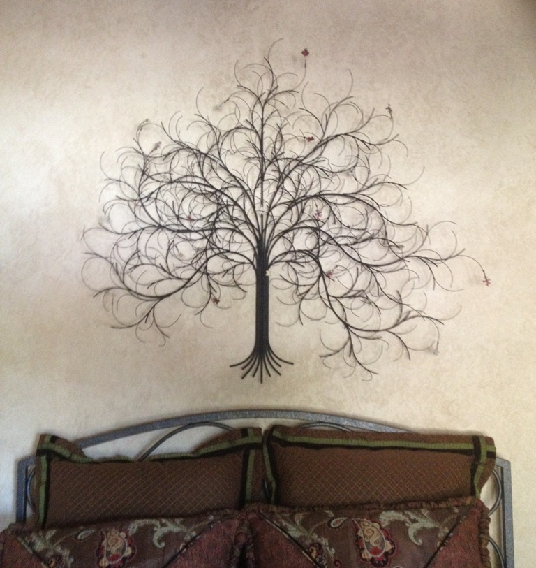 Metal wall art leaves and trees : San francisco metal wall art sculpture and