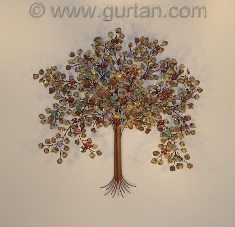 Trees metal wall art metal wall sculpture home decor for Tree wall art