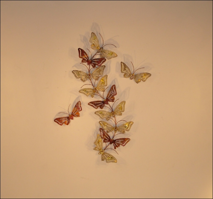 Butterfly Set Metal Wall Decor Art Indoor Single