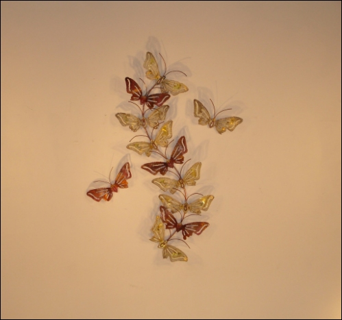 Butterfly Set Metal Wall Decor in S shape