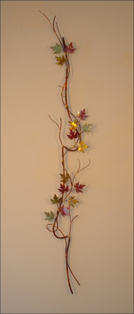 Spring Vine Metal Wall Art Single