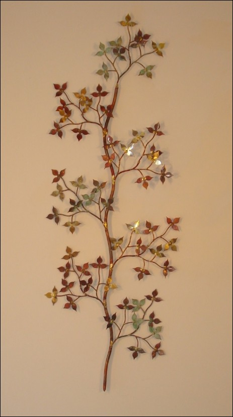 Spring Leaves Metal Wall Sculpture Single