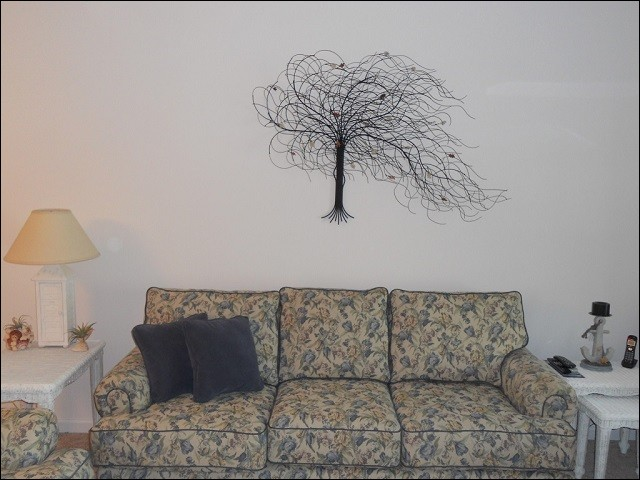 September Tree metal wall sculpture in Oxford Pennsylvania. Home Decor