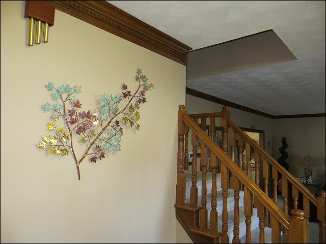 Maple Metal Wall Art in Greenwood Indiana Home