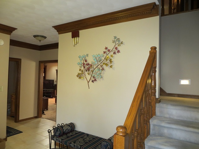 Maple Leaves Metal Wall Sculpture in Greenwood Indiana Home