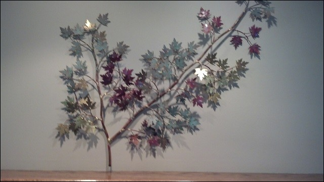 Maple Leaves Metal Wall Sculpture in Garden Grove California