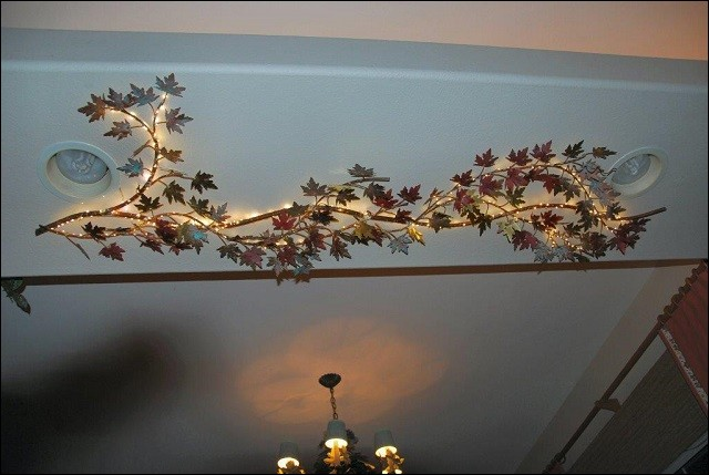 Grape Vine on a ceiling.