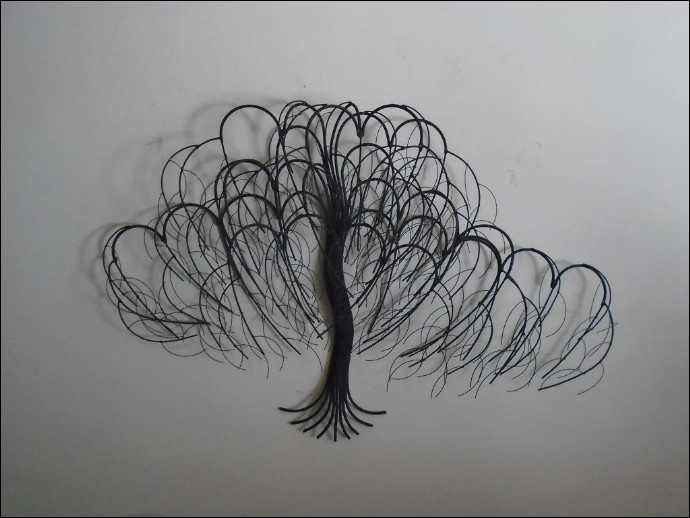 November Tree Black Metal Wall Art Decor Indoor Single