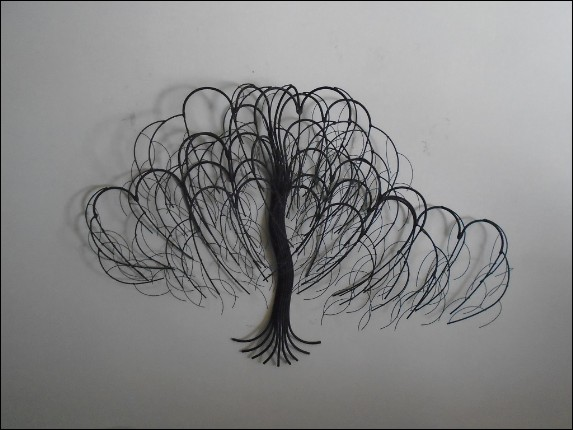November Tree Black Metal Wall Art Decor Indoor