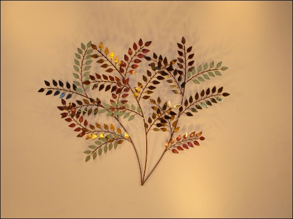 October Left Metal Wall Sculpture Art Indoor