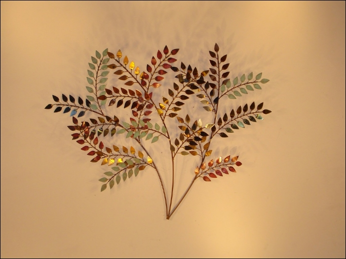 October Left Metal Wall Sculpture Art Indoor Single