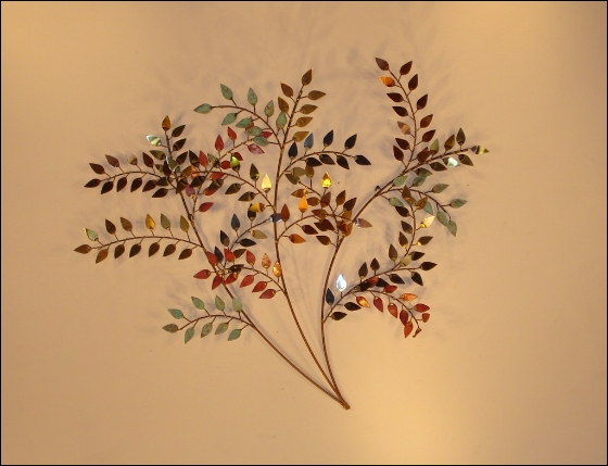 October Right Metal Wall Sculpture Art Indoor Single