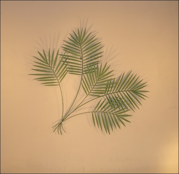 Palm Green Metal Wall Sculpture Art Indoor