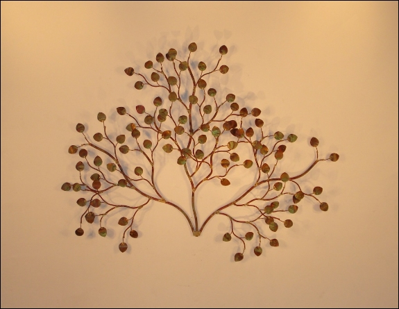 Sea Leaves Outdoor Metal Wall Decor
