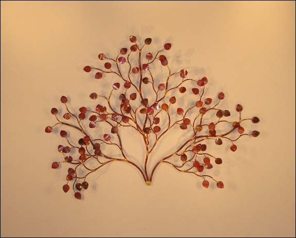 Sea Leaves Copper Metal Wall Sculpture Outdoor