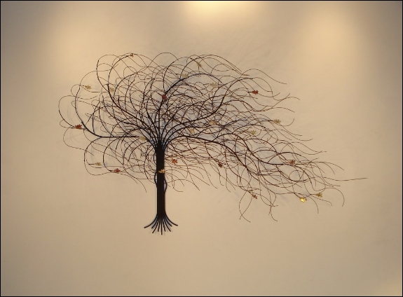 September Tree Black Metal Wall Art Decor Indoor