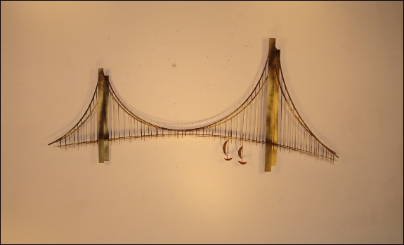 Suspension Bridge Contemporary Metal Art Indoor
