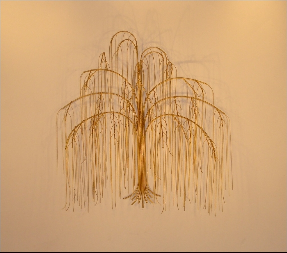 Weeping Willow Tree Metal Wall Art Decor Indoor