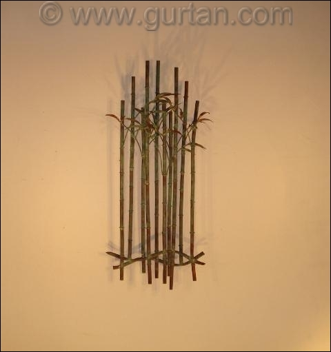 Bamboo Metal Wall Sculpture Outdoor Single