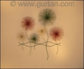 Dandelions Color Abstract Metal Wall Art Indoor