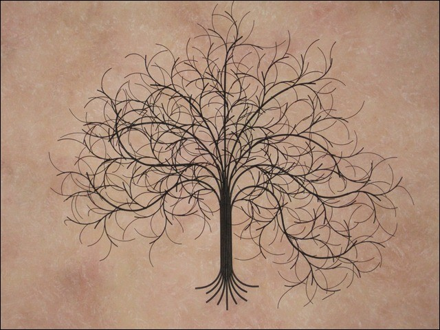 March Tree Black Metal Wall Sculpture in Tallahassee Florida