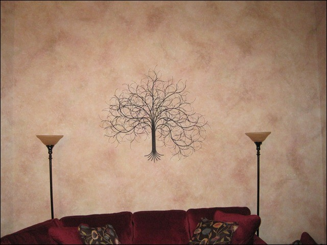 March Tree Black Metal Wall Art in Tallahassee Florida. Home Decor
