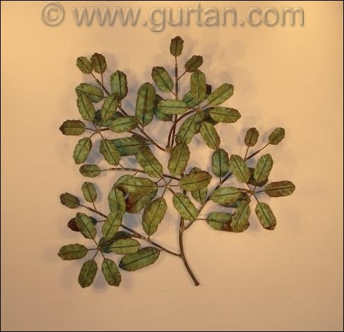 Magnolia Metal Wall Sculpture Outdoor Single