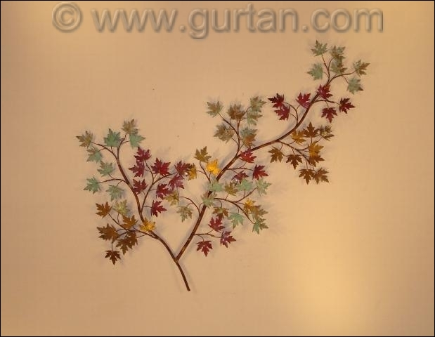 Maple Leaves Autdoor Metal Wall Art Single