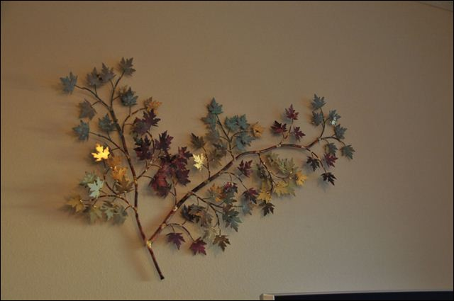 Maple Leaves Metal Wall Art in Jacksonville Florida. Home Decor