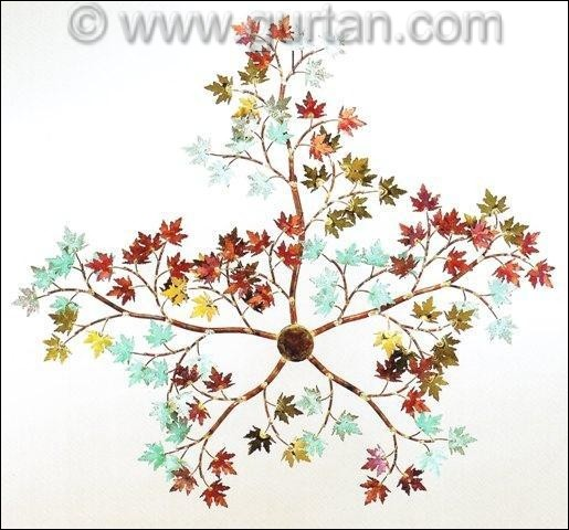 Maple Branch Outdoor Metal Wall Art Single