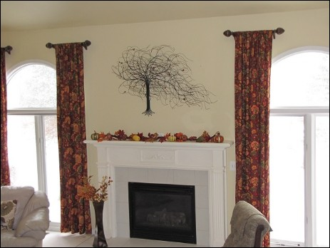 Metal Wall Art Tree in Macomb Michigan House. Home Decor