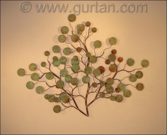 Money Plant Outdoor Metal Wall Decor Single