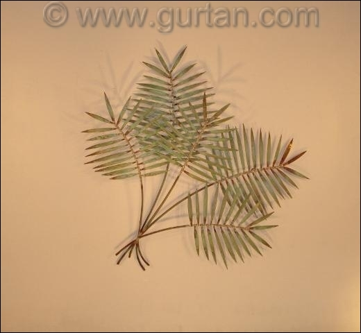 Palm Copper Outdoor Metal Wall Decor Single