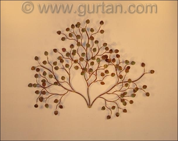 Sea Leaves Outdoor Metal Wall Decor Single