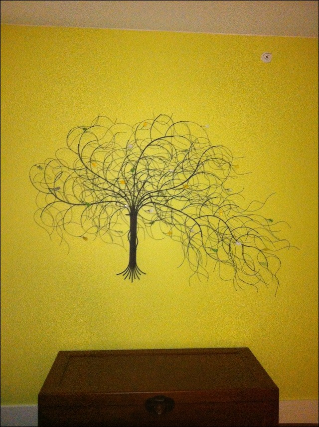 Custom color and size September Tree metal wall art in Honolulu Hawaii