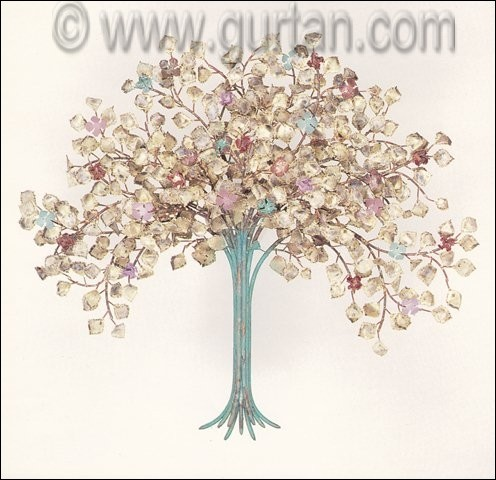 Custom Spring Blossoms Metal Wall Art made in Copper for Outdoors